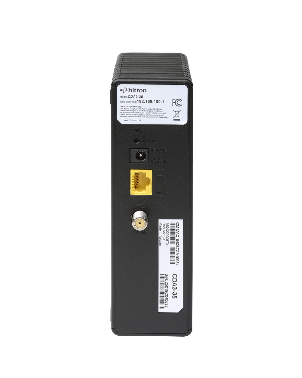 DOCSIS 3.0 Cable Modem from Hitron - CDA3-35
