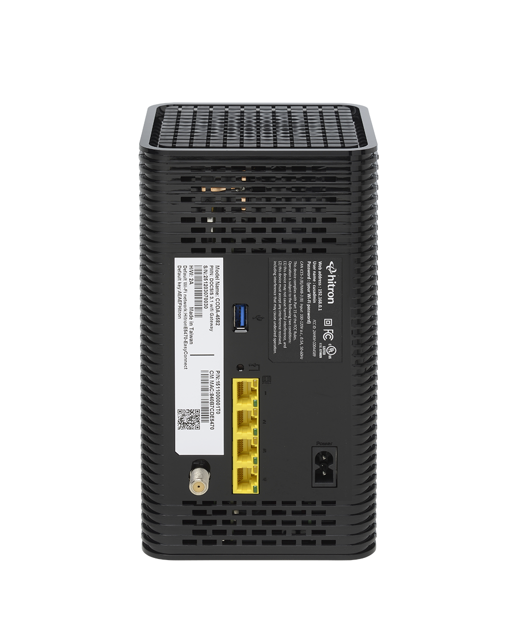 DOCSIS 3.1 Cable Modem Router from Hitron - CODA-4582